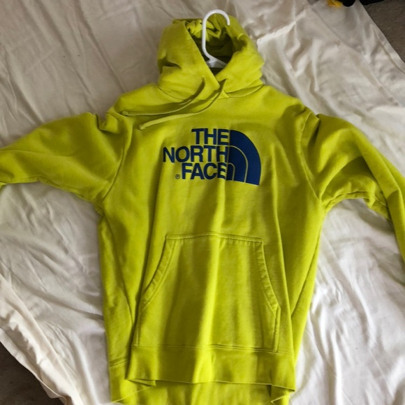 291e70fc9 Yellow and blue mens north face hoodie